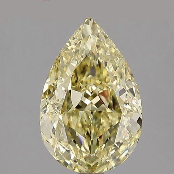 Желтый бриллиант груша фото спереди