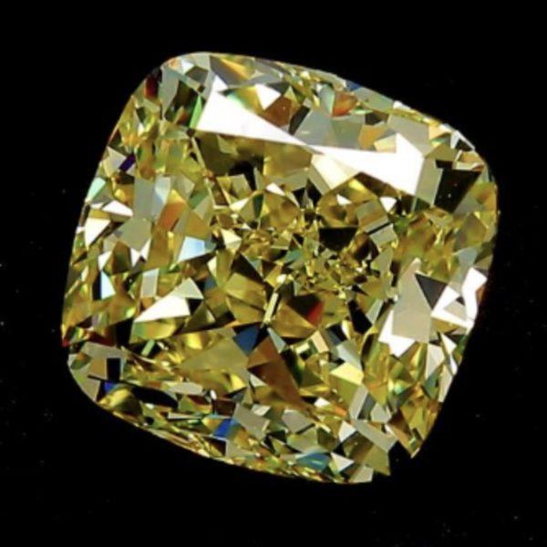 Желтый бриллиант кушон фото