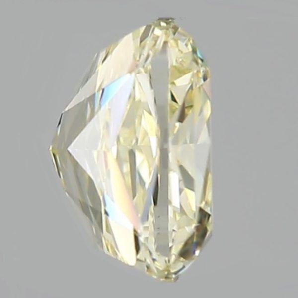 Фото желтого бриллианта вид сбоку