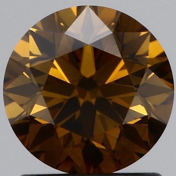 Коньячный бриллиант круг фото спереди