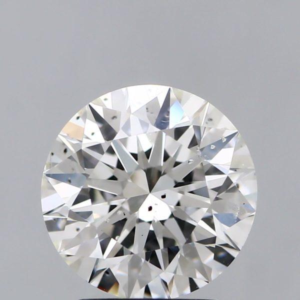 Круглый бриллиант SI2 фото спереди