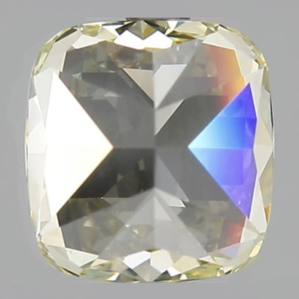 Желтый бриллиант кушон сото сзади