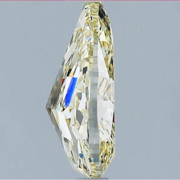 Желтый бриллиант груша фото сбоку
