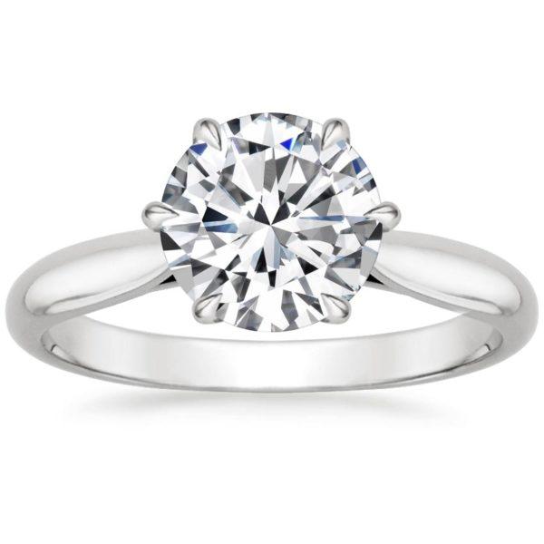Кольцо с бриллиантом 3 карата