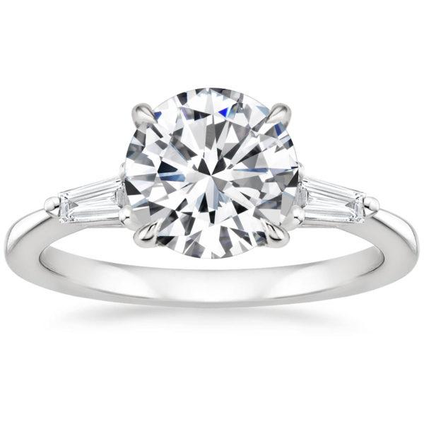 Кольцо белое золото бриллиант 2 карата фото