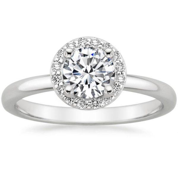 Кольцо белое золото с бриллиантами хало фото