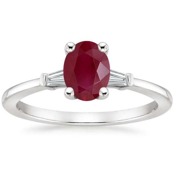 Кольцо с рубином и бриллиантами Фото