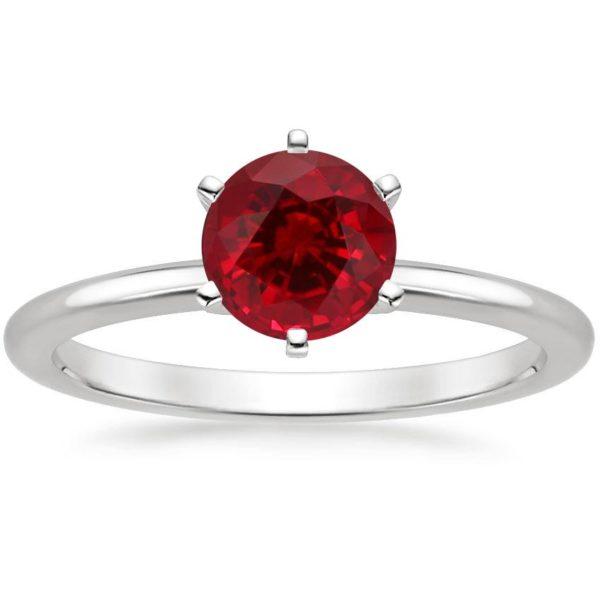 Кольцо с рубином классическое фото